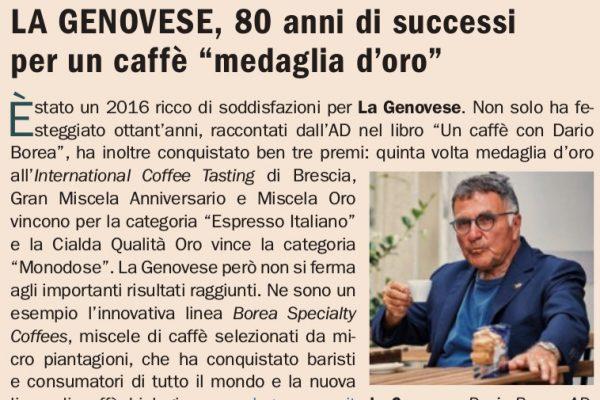 """la Genovese, 80 anni di successi per un caffè """"Medaglia d'Oro"""""""