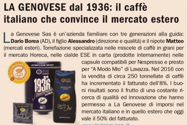La Genovese dal 1936: Il caffè italiano che convince il mercato estero