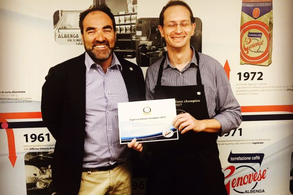 FABRIZIO GIORGINI WINS THE PRELIMINARY COMPETION OF ESPRESSO ITALIANO CHAMPION HOSTED BY LA GENOVESE