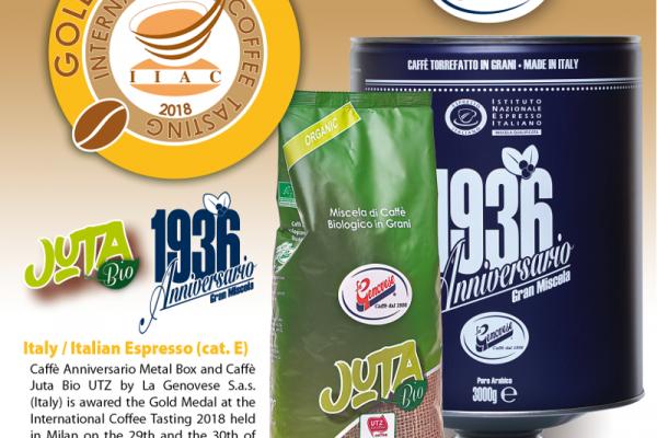 Double Médaille d'Or pour les cafés La Genovese